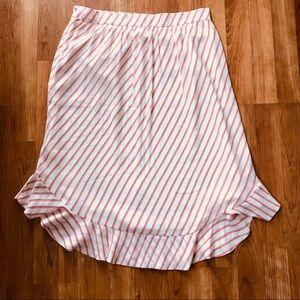 Loft Stripped Skirt Sz 8